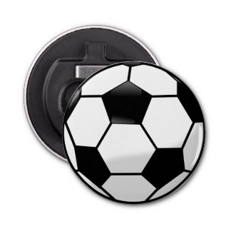 Soccer Ball Bottle Opener Fridge Magnet