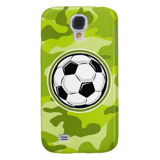Soccer Ball bright green camo camouflage Galaxy S4 Covers