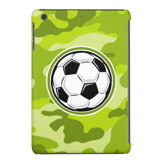 Soccer Ball bright green camo camouflage iPad Mini Cases