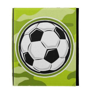 Soccer Ball bright green camo camouflage iPad Case