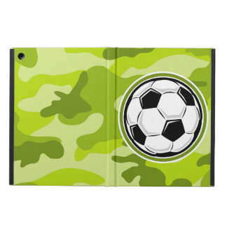 Soccer Ball bright green camo camouflage Case For iPad Air