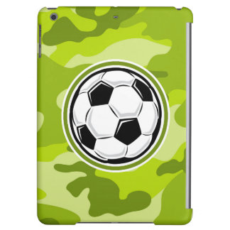 Soccer Ball bright green camo camouflage iPad Air Cover