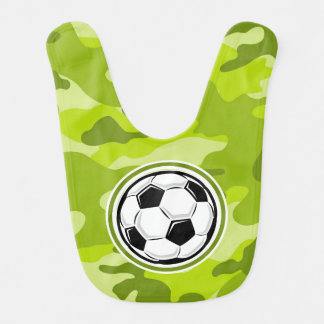 Soccer Ball bright green camo camouflage Bib