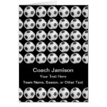 Soccer Ball Card for Coach, Blank Inside