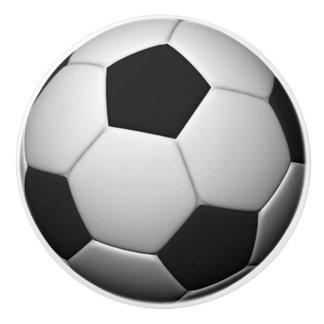 Soccer Ball ceramic knob