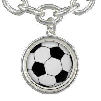 Soccer Ball Charm Bracelet and Charm
