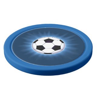 Soccer Ball Clay Poker Chips