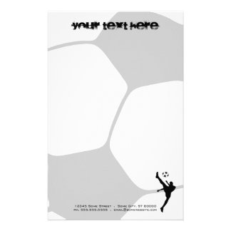 soccer ball custom stationery