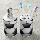 Soccer Ball Design Bathroom Products Soap Dispenser And Toothbrush Holder