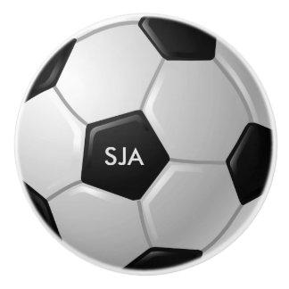 Soccer Ball Design Ceramic Pull or Knob