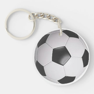 """Soccer Ball"" design gifts and products Double-Sided Round Acrylic Keychain"