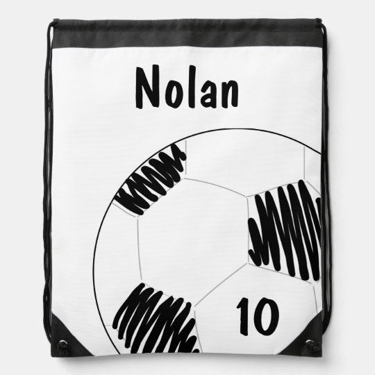 Soccer Ball Draw String Bag = Personalized Drawstring Bags