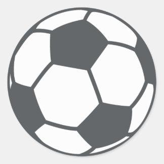 Soccer Ball Emoji Classic Round Sticker