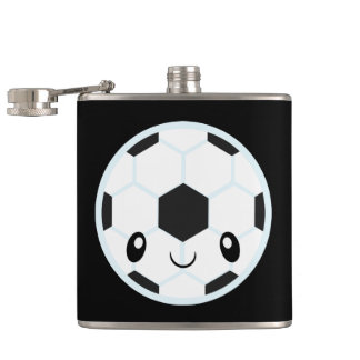 Soccer Ball Emoji Hip Flask