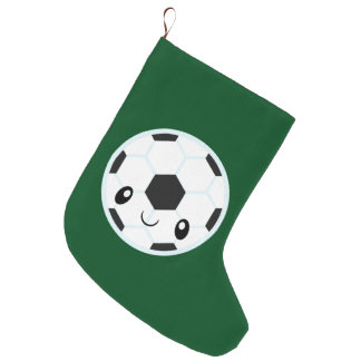 Soccer Ball Emoji Large Christmas Stocking