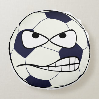 Soccer Ball (Football) Angry Face Sports Pillow