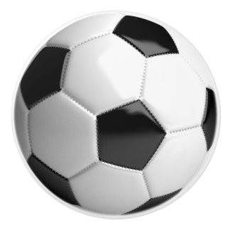 Soccer Ball Football - Ceramic Knob
