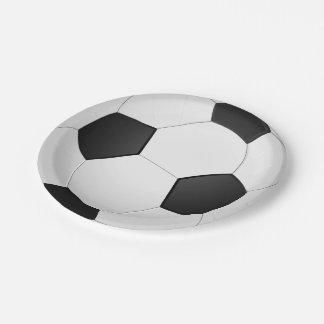 Soccer Ball Football Illustration Paper Plate