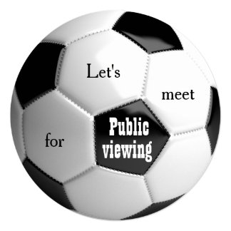 Soccer Ball Football - Public Viewing Invitation