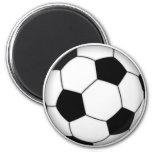 Soccer ball fridge magnet