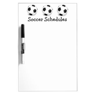 Soccer Ball Game Schedule Memo Dry Erase Board