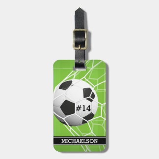 Soccer Ball GOAL Luggage Tag