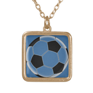 soccer ball gold plated necklace
