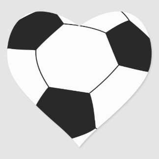Soccer Ball Heart Sticker