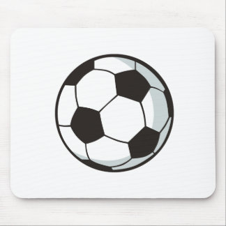 Soccer Ball in Cartoon Style Mouse Pad
