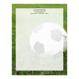 Soccer Ball in Grass Letterhead