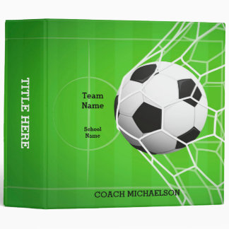 Soccer Ball in Net 3 Ring Binder