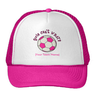 Soccer Ball in Pink Trucker Hat