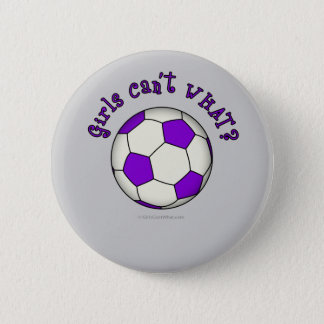 Soccer Ball in Purple 2 Inch Round Button