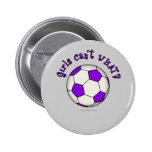 Soccer Ball in Purple Pins