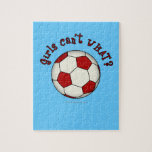 Soccer Ball in Red Jigsaw Puzzle