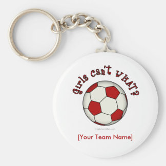 Soccer Ball in Red Key Chain
