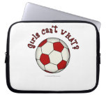 Soccer Ball in Red Laptop Computer Sleeves