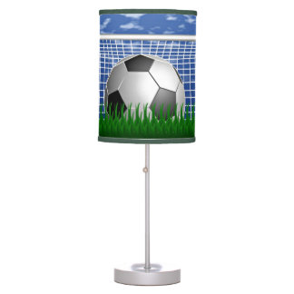 Soccer ball in the net - summer day table lamp