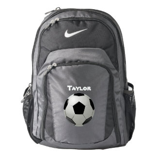 Soccer Ball Name Personalize Backpack