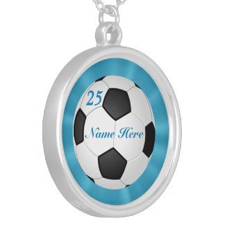 Soccer Ball Necklace with Number and Name