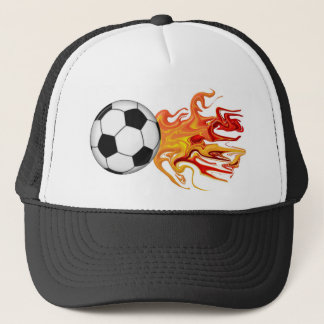 Soccer Ball of Fire Trucker Hat