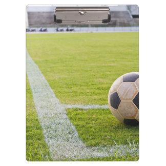 Soccer Ball on Field Line Clipboard