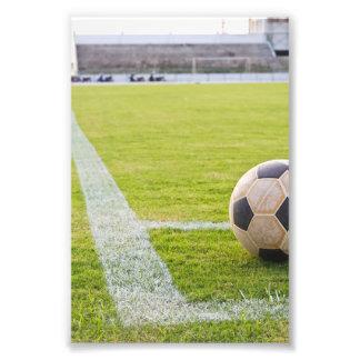 Soccer Ball on Field Line Photo Art