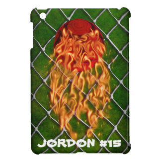 Soccer ball on fire iPad mini cover