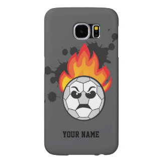 Soccer ball on fire samsung galaxy s6 cases
