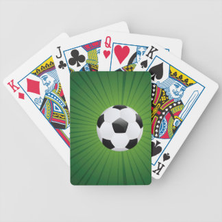 Soccer Ball on Rays Background2 Bicycle Playing Cards