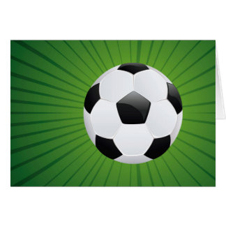 Soccer Ball on Rays Background2 Card
