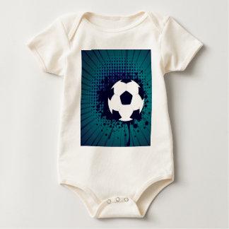 Soccer Ball on Rays Background 2 Baby Bodysuit