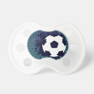 Soccer Ball on Rays Background 2 Baby Pacifiers