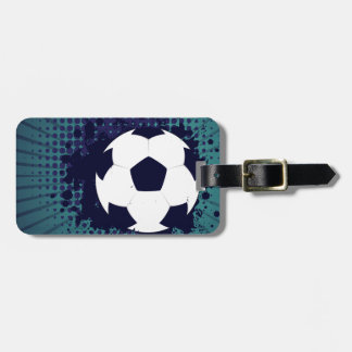 Soccer Ball on Rays Background 2 Bag Tag